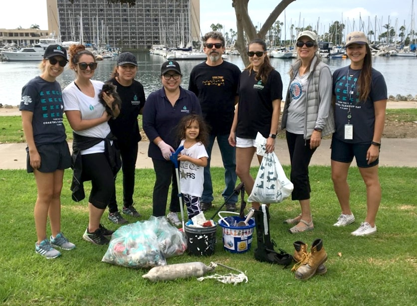 SAN Employees Participate in I Love a Clean San Diego's Coastal Cleanup Day