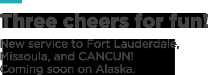 Alaska Air: HIP, HIP, HECK YA Cancun