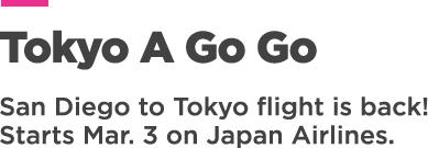 San Diego to Tokyo flight is back!